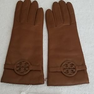 New Tory Burch Miller Cashmere Lined Leather Glove